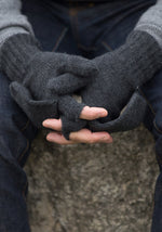 Fold Over Cashmere Mitts - The Cashmere Shop  - 4