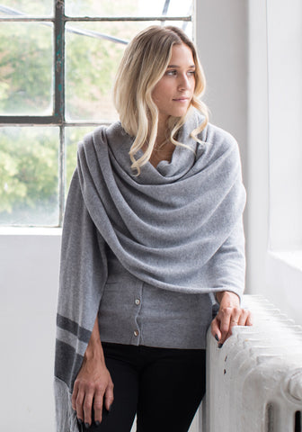 Leo + Clive Grace Wrap and Scarf