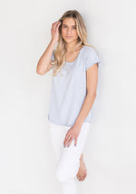 T Shirt in Coral by Brodie - The Cashmere Shop Spring Collection