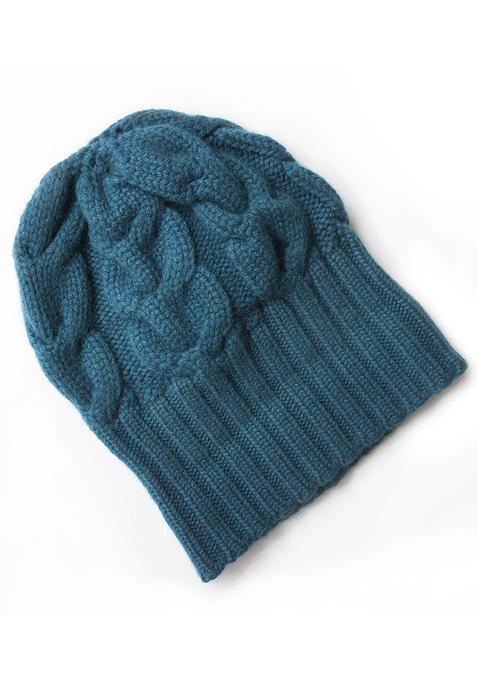 Heavy Cable Hat - The Cashmere Shop  - 5