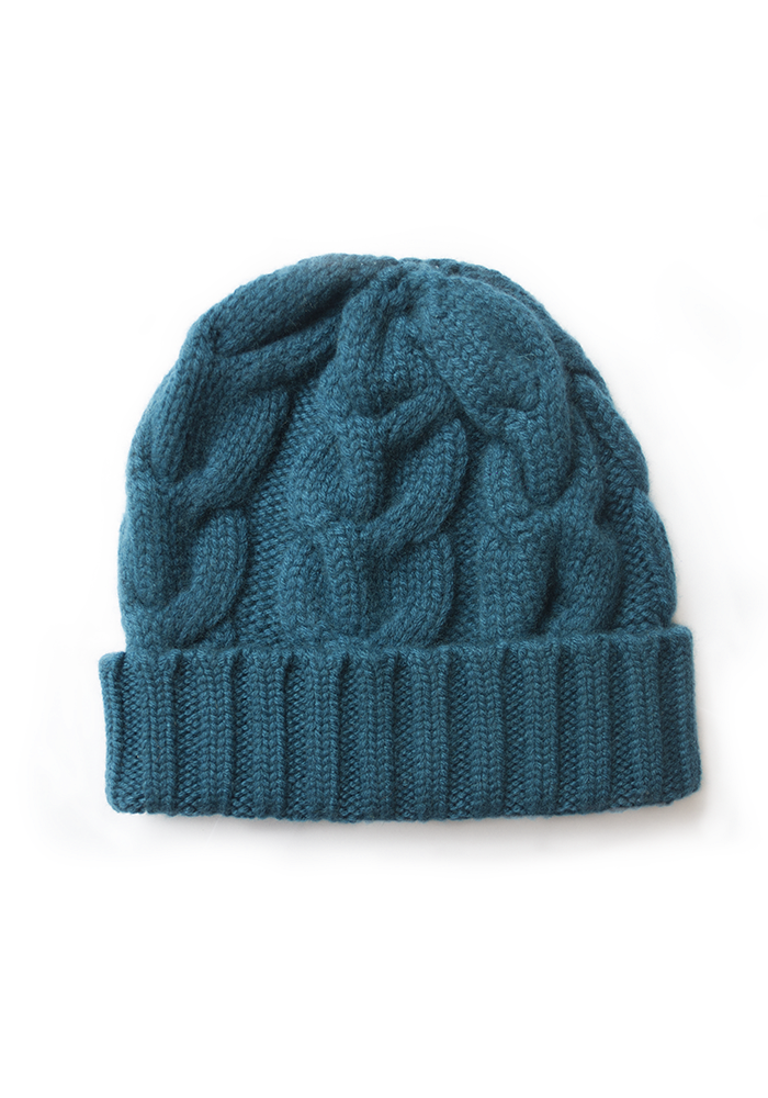 Heavy Cable Hat - The Cashmere Shop  - 1