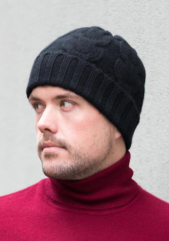 Copy of Heavy Cable Cashmere Hat