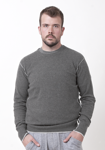 Men's Round Neck with Contrast Seam