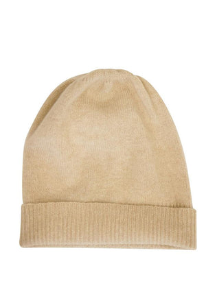 Classic Cashmere Hat in Biege or Light Natural