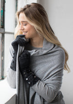Cashmere Button Gloves - The Cashmere Shop  - 2