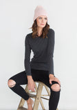 Majestic Filatures Dark Grey Crew Neck on Sale - Yorkville, Toronto