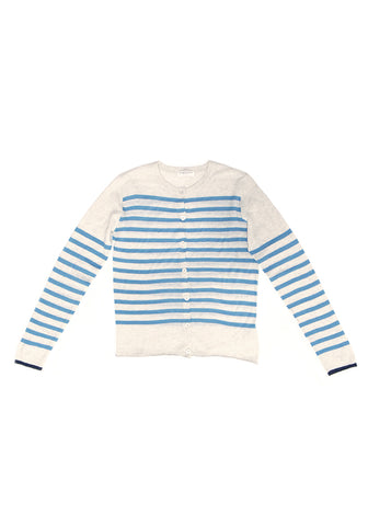 Majestic Filatures Striped Cashmere Cardigan