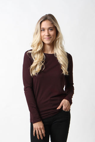 Cotton/Cashmere Flat-Edge Crew Neck