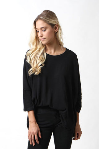 Majestic Filatures Cotton/Cashmere Oversized Crew Neck