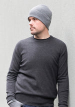Cashmere Men's Round Neck - Charcoal