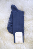 Men's Light Cashmere Ribbed Sock - The Cashmere Shop  - 2