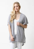 100% Cashmere Light Grey Mesh Cover Up Sweater but The Cashmere Shop, Yorkville, Toronto
