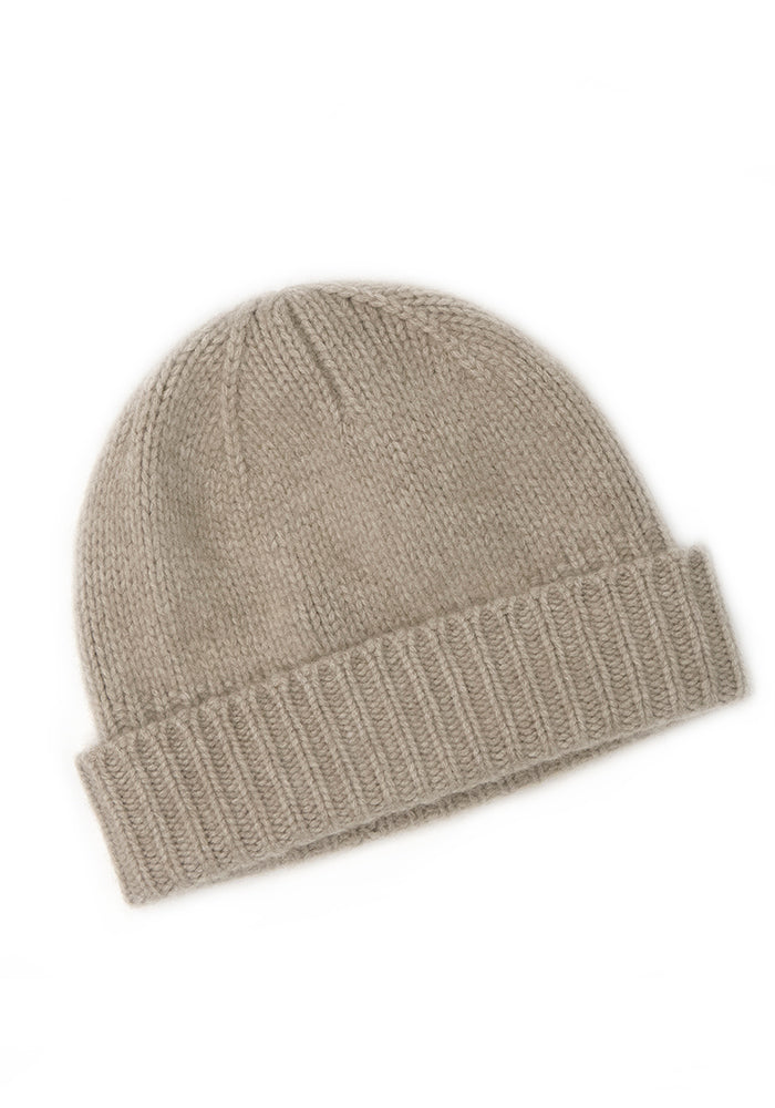 Heavy Ribbed Mushroom Hat - 100% Cashmere