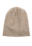 Long Skull Cashmere Hat in Mushroom - 100% Mongolian Cashmere by The Cashmere Shop