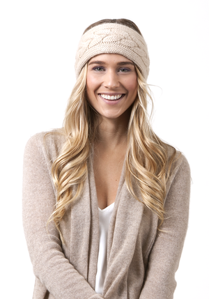 CASHMERE CABLE HEAD BAND