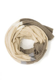 Neutral Striped Wrap & Scarf - 100% Cashmere - The Cashmere Shop Toronto