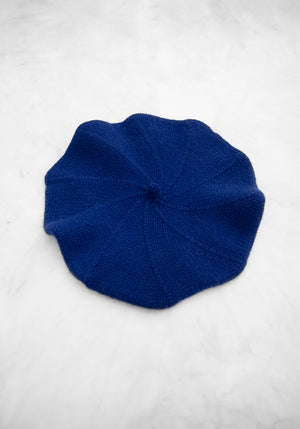 Cashmere Beret in Royal Blue