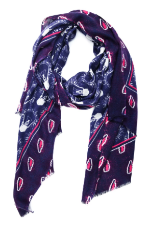 Yarnz Light Bulb Scarf, Navy