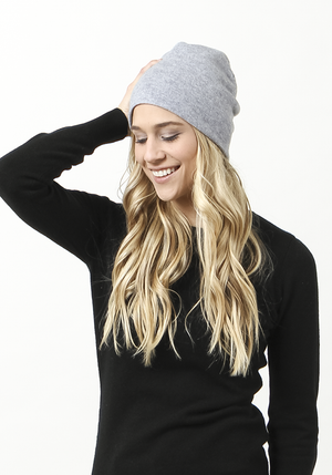 Light Grey Cashmere Hat