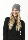 Skull Hat for Women in Medium Grey - 100% Mongolian Cashmere by The Cashmere Shop