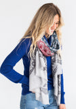 Yarnz Lace Scarf, Grey