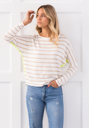 ATLANTIC STRIPE JUMPER - CREMA