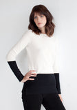 Cashmere Colour Block Round Neck