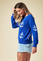 Mini Anchor Sweater, O/S, Blue