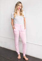 WOMEN'S CASHMERE SPECKLED PANTS, PINK