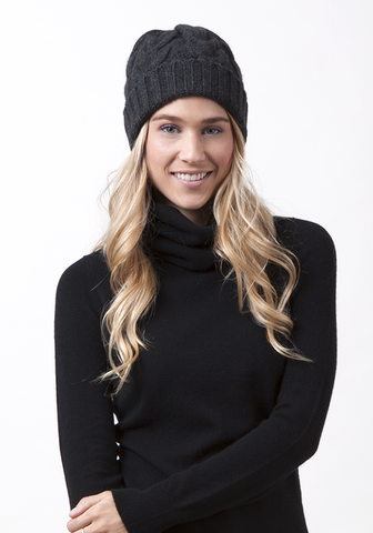 Heavy Cable Cashmere Hat