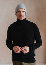 Men's Cashmere Turtle Neck, Black