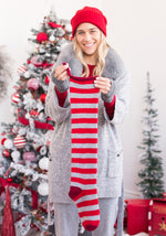Striped Cashmere Christmas Stocking
