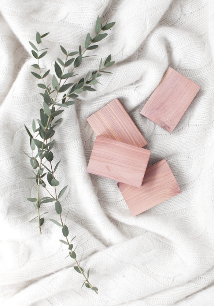 Essential Cedar Blocks ~ Pack of 4 - The Cashmere Shop