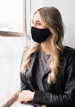 CASHMERE FACE MASK - BLACK