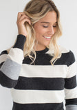 Cashmere Striped Round Neck Sweater