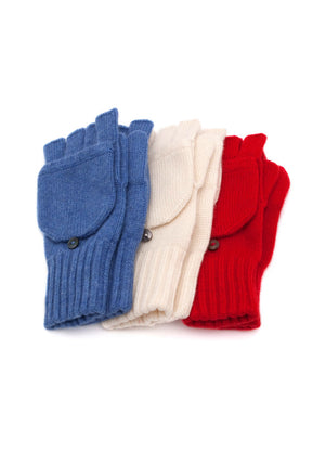 Fold Over Cashmere Mitts - The Cashmere Shop  - 5