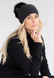 Holiday Gifts - Fur Pom Pom Cashmere Hat by The Cashmere Shop Toronto