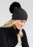 Holiday Gifts for Women - Fur Pom Pom Cashmere Hat by The Cashmere Shop Toronto