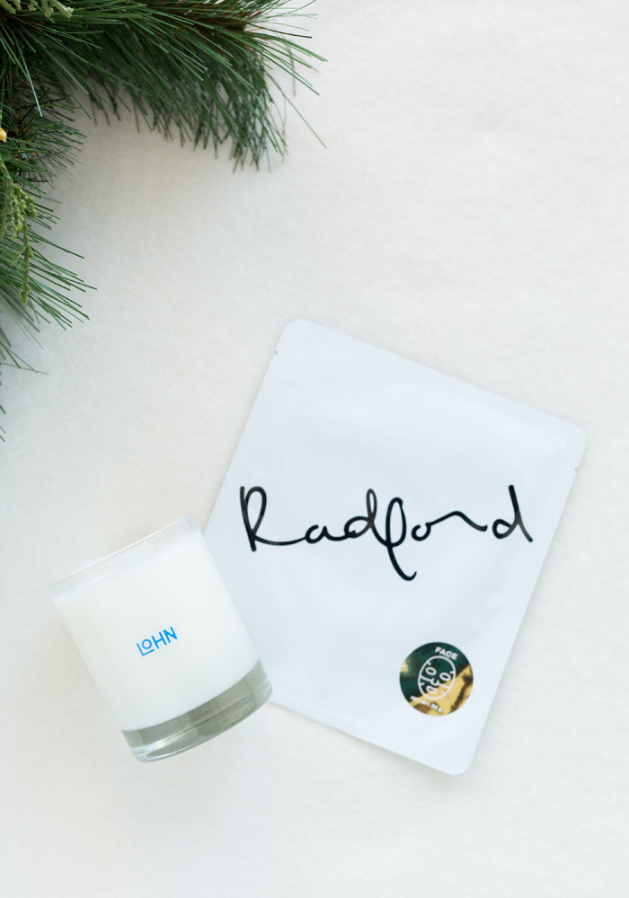 LOHN CANDLE & RADFORD FACE MASK HOLIDAY SET