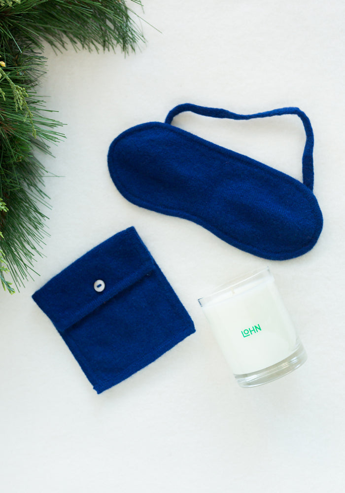 SLEEP MASK & CANDLE HOLIDAY SET