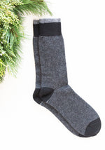 Men's Micro Stripe Cashmere Socks