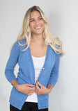 Mesh V-Neck Button Cardigan