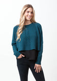 Cropped Round Neck With Cable - The Cashmere Shop  - 4