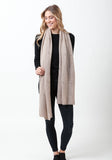 Fern Cashmere Wrap and Scarf - The Cashmere Shop  - 2