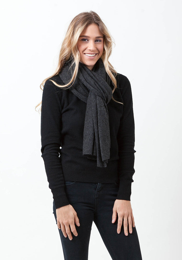 Fern Cashmere Wrap and Scarf - The Cashmere Shop  - 1
