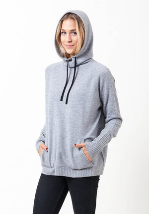Hooded Cashmere Cowl Boyfriend - The Cashmere Shop  - 6