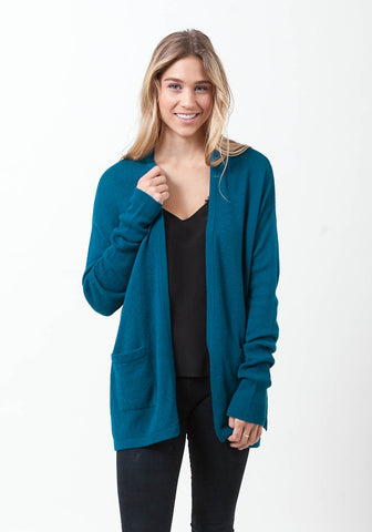 Cashmere Open Mesh Cardigan
