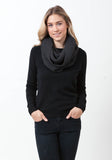 Cashmere Textured Snood - The Cashmere Shop  - 2