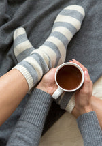 Holiday Shopping - Cashmere Striped Bed Socks