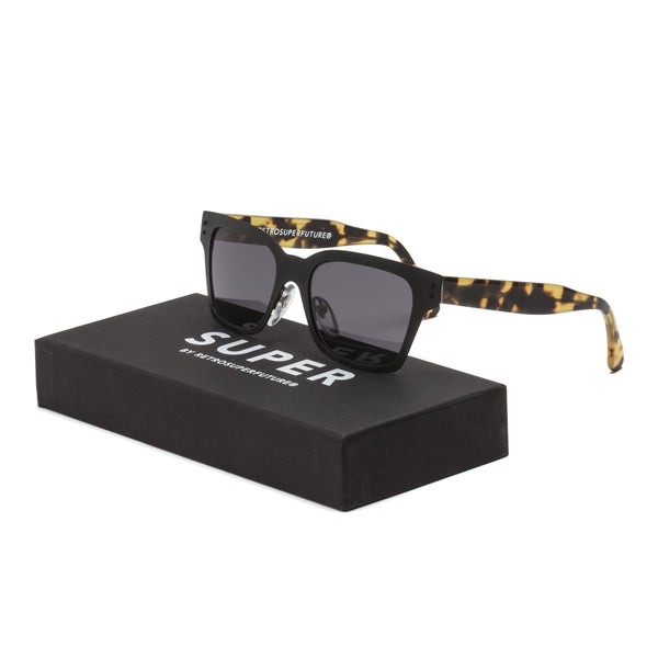 RETROSUPERFUTURE Super America Intellect Sunglasses Matte Black Spotted Tortoise